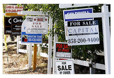 Multiple sales signs